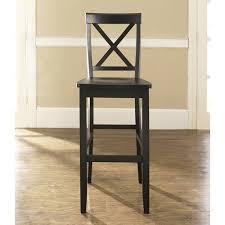 30 Inch Bar Stool With Back Crosley Furniture Cf500430 Bk X Back Set Of 2 Bar Stools In Black
