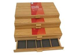 wooden supply boxes davinci artist supply