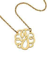 monogram initials necklace cutout monogram necklace personalizedworld