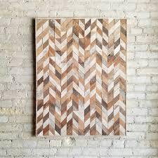 chevron wood wall reclaimed wood wall wood wall decor abstracted chevron 40x30