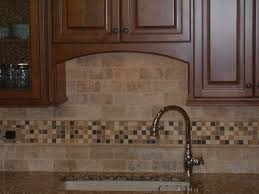 Brown Subway Travertine Backsplash Brown Cabinet by Kitchen Luxury Tumbled Stone Kitchen Backsplash Traditional