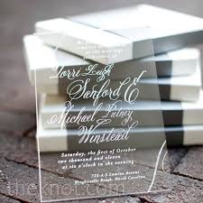 acrylic wedding invitations clear acrylic invitations