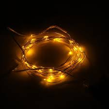 Light String Led by Yellow Silver Light String Flexible Led Silver String For Kid