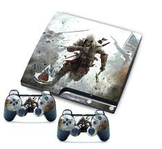 ps3 gaming console cool assassin skin sticker for ps3 slim consol 2 matching ps3
