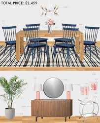 budget dining room modern eclectic emily henderson