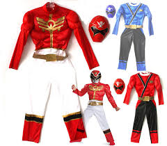 Power Ranger Halloween Costumes Free Shipping Quality Children Font Red Font Blue Musle Font Power Jpg