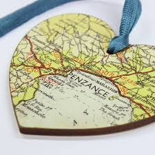 map location hanging keepsake gift for ornament craft