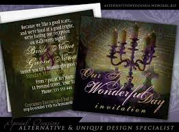 candelabra dark romance gothic halloween wedding invitation