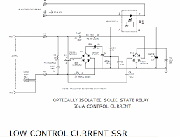 solid state relay required only 50ua drive current circuit diagram