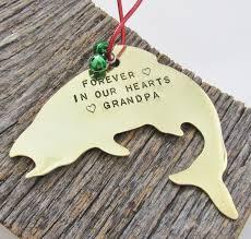 memorial ornament fishing grandfather remembrance ornament