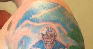 byu long snapper gets tattoo of himself snapping the football
