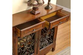 powell scroll console table hallway console cabinet
