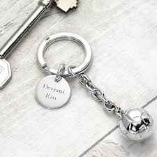 jewelry key rings images Silver football key ring by hersey silversmiths jpg