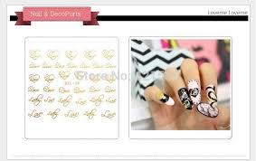 metallic nail foil wraps 3d metallic nail wraps gold nail patch stickers logo letter