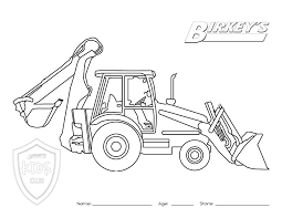 tractor backhoe coloring page munstur pinterest baby fever