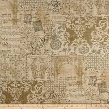 Print On Aprons Waverly Screen Printed Linen Fabric Com