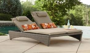 Outdoor Wood Chaise Lounge Wooden Chaise Lounge Outdoor With Double Chaise Lounge Cushions
