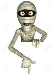 3d cartoon halloween mummy stock photo picture and royalty free
