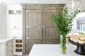 Grey Wash Kitchen Cabinets Gray China Cabinet Transitional Kitchen Kelly Nutt Design