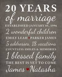 what to get husband for 1 year anniversary 20 year anniversary gift wedding anniversary gift print gift for