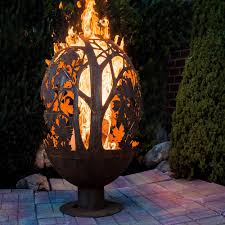 Fire Pit Globe by Blowing Leaf Fire Globe Extra Large Esschert Design Usa Ff1014