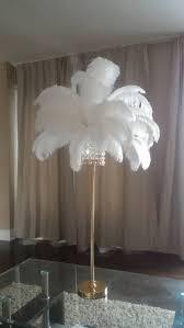 chandelier ostrich feather table centrepieces ostrich lamp black