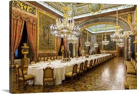 Royal Dining Room Madrid Dining Room In Royal Palace Spain Wall Canvas Prints