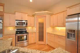 corner kitchen cabinets oak corner kitchen cabinet with glass door which is good idea
