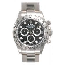 rolex white gold oyster bracelet images Rolex cosmograph daytona black with 8 diamonds dial 18k white gold jpg
