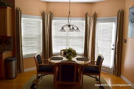 Elegant Window Treatments by Curtain Ideas For Bay Windows In Dining Room Homeminimalis Simple