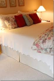 Bed Valance Wrap How To Make A Diy Bed Skirt Mattress Adjustable Beds And Fabrics