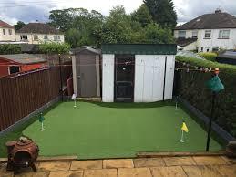 thistle all weather grass u2013 back yard putting green in renfrew
