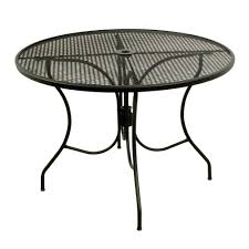 Black Patio Chairs Metal Arlington House Glenbrook Black 42 In Round Mesh Patio Dining