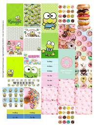erin condren life planner free printable stickers keroppi sanrio and donuts free printable planner stickers for