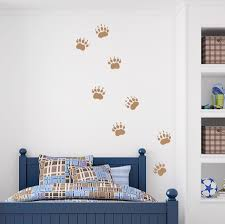 grizzly bear tracks vinyl wall decal bear decal paw print zoom