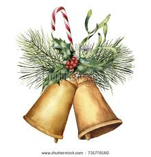 watercolor christmas lantern candle holiday decor stock