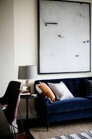 navy sofa living room cool down your design with blue velvet furniture hgtv s decorating