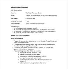 administrative assistant responsibilities resume medical administrative assistant job description sample resume