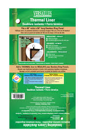 Thermal Curtain Liners Walmart by Versailles U0027 Insultating Thermal Liner For Bamboo Ring Top Panels