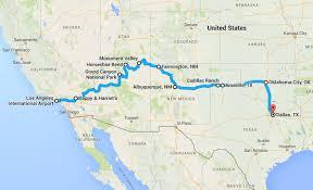 Grand Canyon Map Usa by Road Trip La To Dallas Usa Mindful Travel Mindful Travel