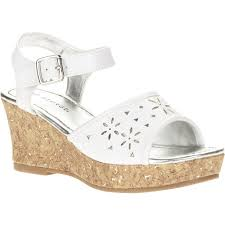 Walmart Wedding Flowers - george u0027s white flower dress wedge shoes walmart com
