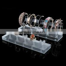 acrylic crystal ring holder images Custom luxury lucite perspex jewelry stand quot c quot ring shape counter jpg