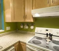 green paint colors for backsplash with white springs granite and