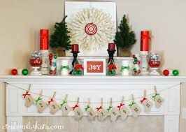 fireplace captivating christmas mantel decorations with red
