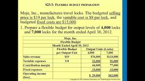 managerial accounting flexible budgets and standard costs youtube