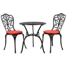 Tesco Bistro Table Buy Bentley Garden Furniture Cast Aluminium Bistro Set Black With