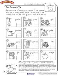 two sounds of g free english worksheet for kids smart