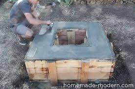 Homemade Chiminea Homemade Modern Ep46 Concrete Fire Pit