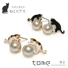 hypoallergenic earrings tome accessories rakuten global market cat earrings cat