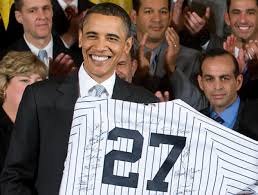 White House Tours Obama by World Series Champion New York Yankees Visit President Barack